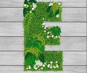 E floral letters vector