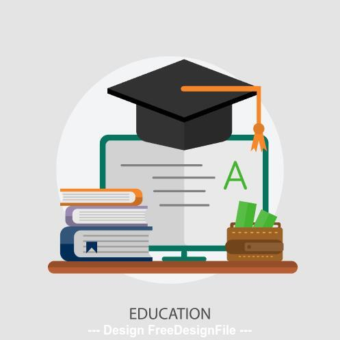 Education elements vector