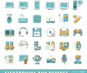 Electronic equipment icon vector