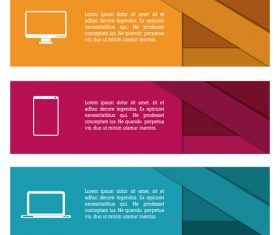 Electronics product banner vector
