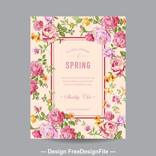 Elegant floral frame card vector