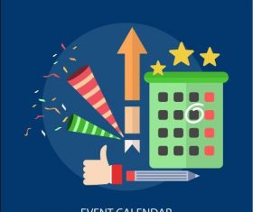 Event calendar elements vector