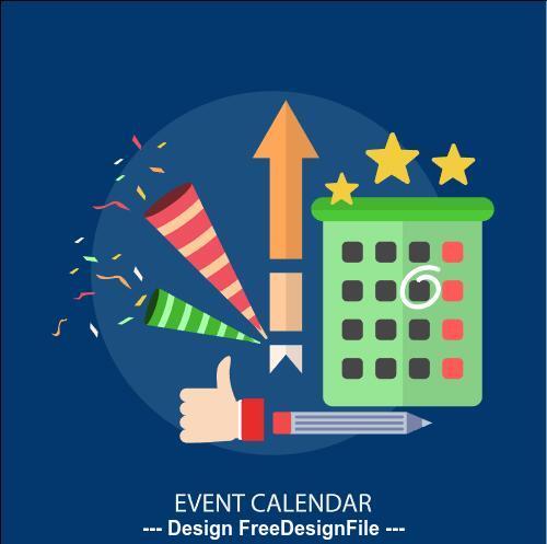 Event calendar elements vector