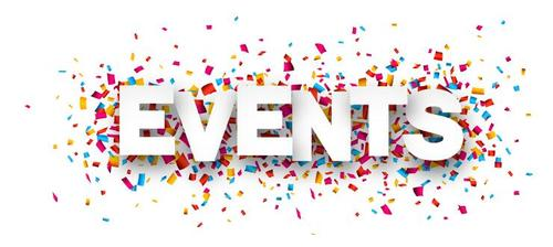 Events font and confetti vector