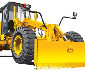Excavator cartoon vector