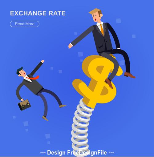 Exchange pate cartoon illustration vector