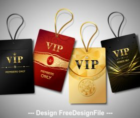 Extreme VIP card vector