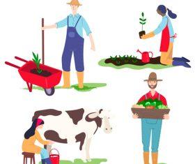 Farmer cartoon illustration vector