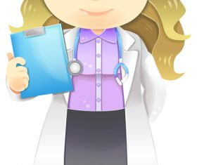 Female doctor cartoon vector
