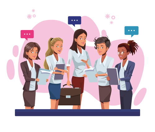 Female staff cartoon vector
