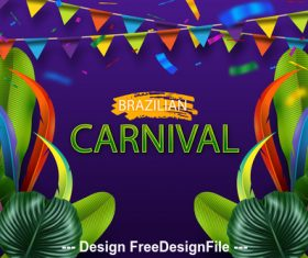 Festive background Brazil carnival vector