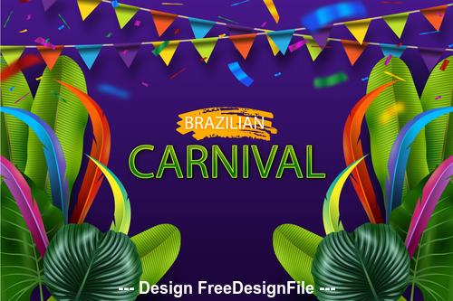 Festive background Brazil carnival vector