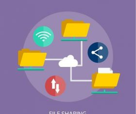 File sharing elements vector