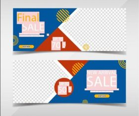 Final promotion banners template vector