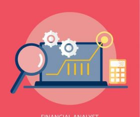 Financial analyst elements vector