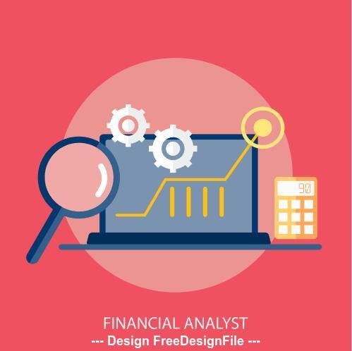 Financial analyst elements vector