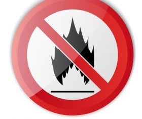Fire prohibition sign vector