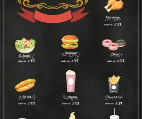 Flavor menu vector icons