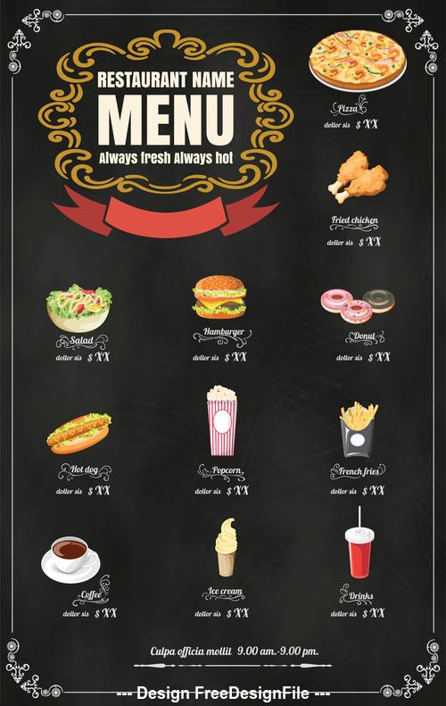 Flavor menu vector icons