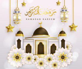 Floral ornament Ramadan Kareem design illustrations vector