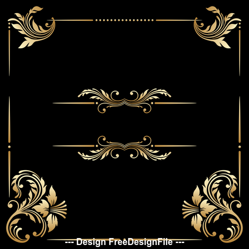 Floral ornament frame vector