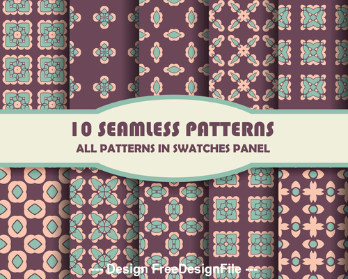 Floral seamless pattern brown vector