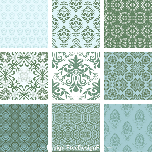 Flower pattern collection vector