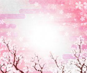 Flying cherry blossom petal vector