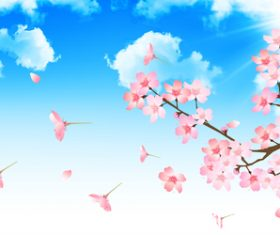 Flying petals illustration vector