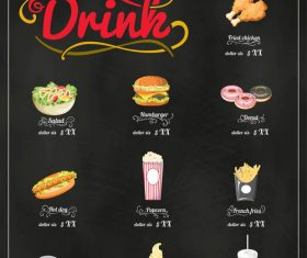 Food design vector icons