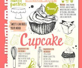 Food sketch illustration vector