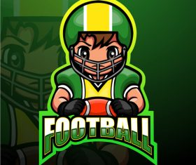 Football gaming mascot design vector