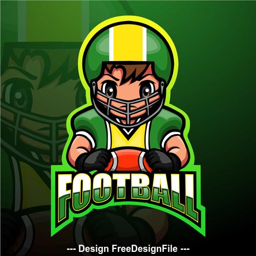 Football gaming mascot design vector