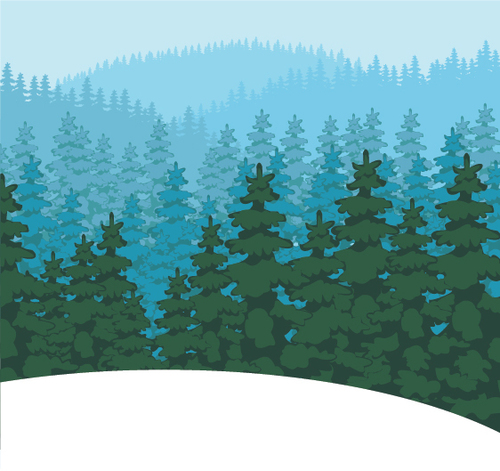 Forest nature landscape vector