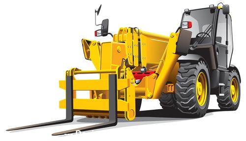 Forklift cartoon vector