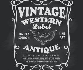 Frame label blackboard vintage banner vector