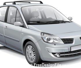French silver MPV vector