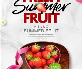 Fresh Fruit Summer Flyer PSD Template
