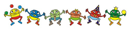 Frog group vector