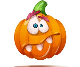 Funny cartoon pumpkin vector illustration