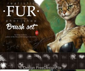 Fur Photoshop Brushes Set