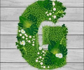 G floral letters vector