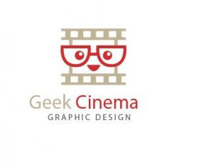 Geek cinema logo vector