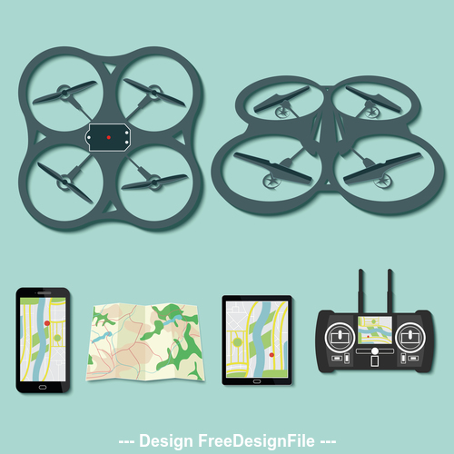 Geological survey drone footage vector