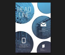 Geometric background flyer brochure design template vector