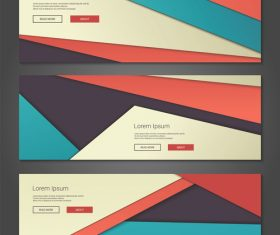 Geometric color banner vector