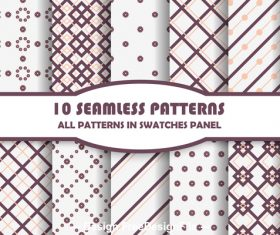 Geometric lattice seamless pattern vector