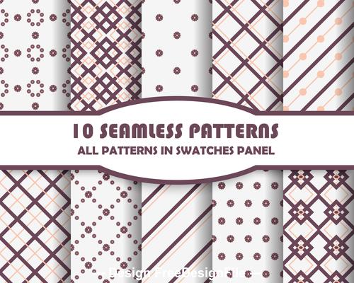Geometric lattice seamless pattern vector