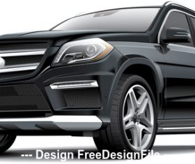 Germany full-size luxury SUV vector