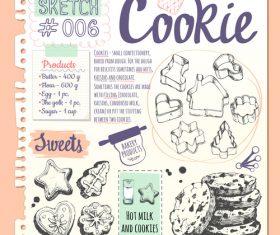 Gingerbread sketch illustration vector